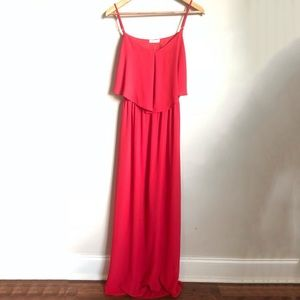 NWOT Everly red open-back maxi